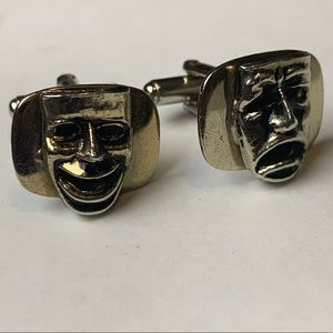 Pair of faces cufflinks !!